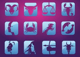Horoscope signes de vecteur