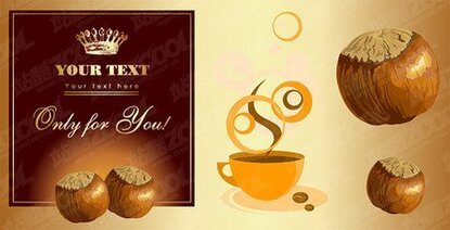 Chestnuts and coffee theme of