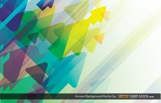 Abstract Colorful Arrows Background