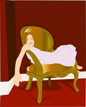 Girl in lay position vector 7