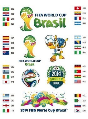 2014 Brasilien World Cup Vector Set