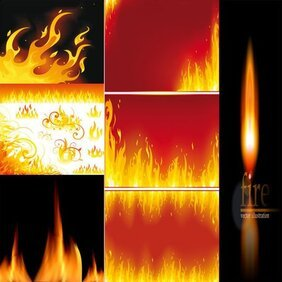 Vector fine flame