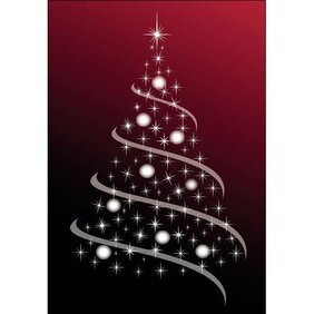 CHRISTMAS TREE ABSTRACT VECTOR IMAGE.eps