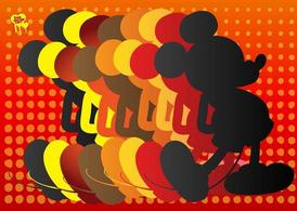 Mickey Mouse siluet