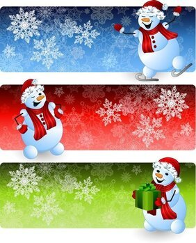Cartoon Snowman Banner