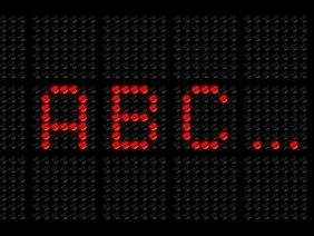 LED screen font (PSD)