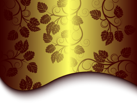 Free Golden Floral Background