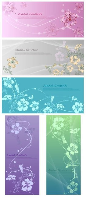 Hand-painted flowers vector fantasy material