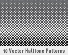 10 Vector Halftone Patterns