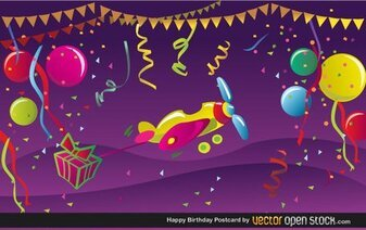 Free Happy Birthday Postcard
