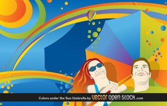 Colors Under The Sun Umbrella Colorful Sun Umbrella