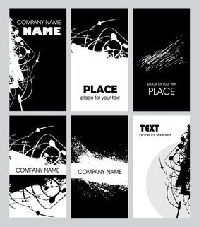 Noir et blanc rouille Card Design Template vecteur 2