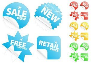 The sale of stickers feeling clean icon