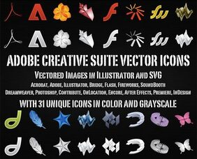 Adobe Creative Suite iconos vectoriales gratis