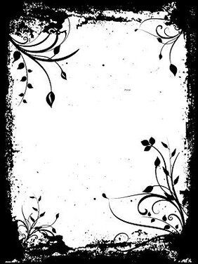 Black and white pattern frame