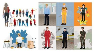 Vector various professional people