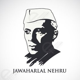 Free Vector Portrait of Jawaharlal Nehru