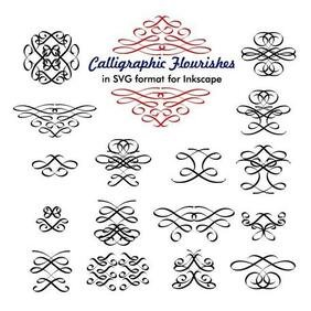 CALLIGRAPHIC VECTOR FLOURISHES.eps