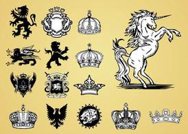Antique Heraldry Vectors