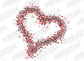 Carefully shaped the formation of large heart-shaped