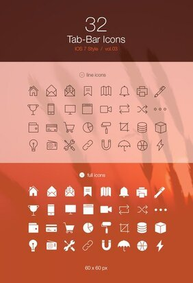 Tab Bar Icons iOS 7 Vol3