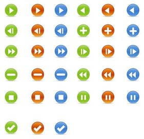 Vector Glossy Buttons Icons