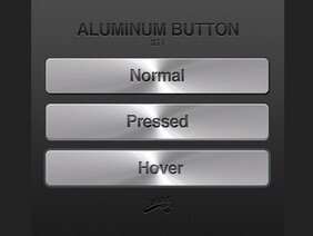 Aluminum Button PSD