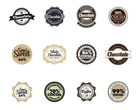 Chocolate Vector Badges
