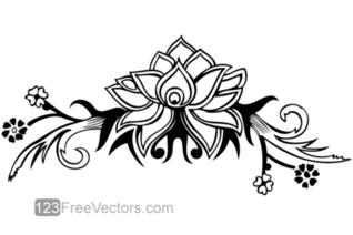Hand Drawn Flower Design
