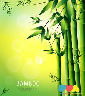 Bambou Vector Background Illustration