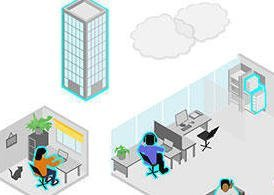 Office Vectors - Working from the office or home