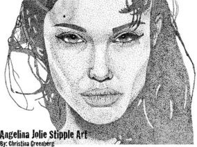 Angelina Jolie Stipple arte