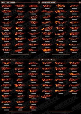 100 Vector models element of the trend of colored flame mate