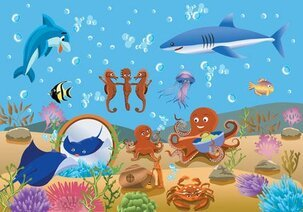 Vector Underwater World Fish Underwater