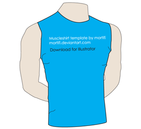 Muscle Shirt Template Vector Free