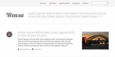 Simple Blog Layout PSD