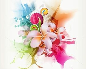Abstract Floral Vector Illustration Artwork