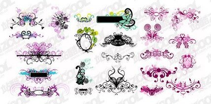 A variety of decorative patterns utility