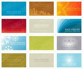 Background of a variety of card template