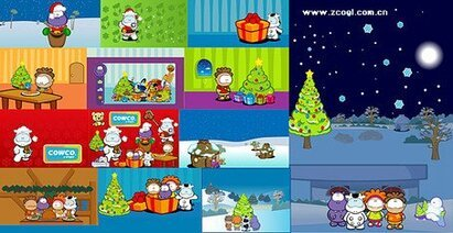 11, paragraph adorable Cowco Christmas theme of cartoon char