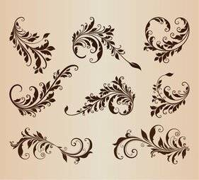 Vintage Design Elements Vector Set for Retro Design
