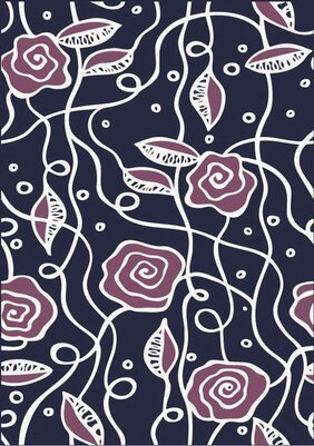Simple abstract vector flower pattern background material