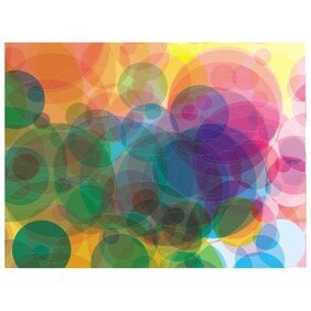 VECTOR BUBBLES IN COLORS BACKGROUND.eps