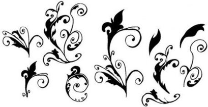 Curly Vector Floral Elements