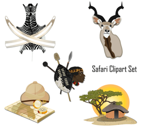 Safari Clipart Set
