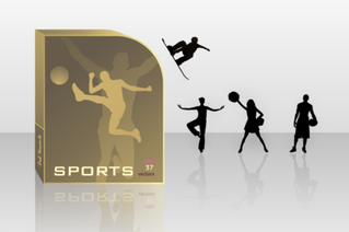 Free Vector Set: Athletes silhouettes