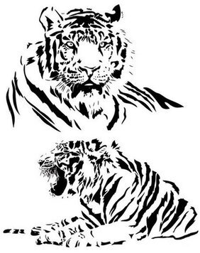 Both black and white tiger