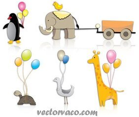 Animal Cartoon Vector Clipart Pack gratuit