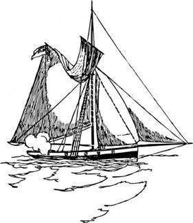 Ship With Torn Sail