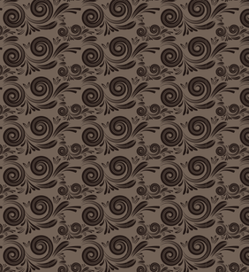 Swirly Floral Seamless Vector Pattern
